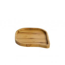 Servírovací podnos z bambusu Bambum Locco, ⌀ 10 cm