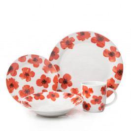 12-dielny porcelánový set riadu Sabichi Spring Poppy