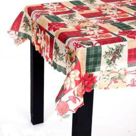 Obrus s vianočným motívom Unimasa Brick, 220×150 cm