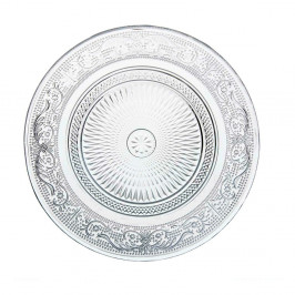 Sklenený tanier Unimasa Romance, Ø18cm