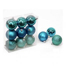 Sada 9 vianočných ozdôb v modrej farbe Unimasa Navidad
