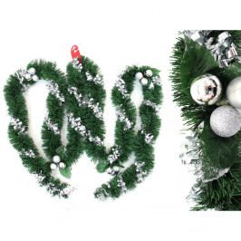 Dekoratívna vianočná girlanda s detailmi v striebornej farbe Unimasa Tinsel, dĺžka 3 m