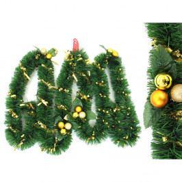 Dekoratívna vianočná girlanda s detailmi v zlatej farbe Unimasa Tinsel, dĺžka 3 m
