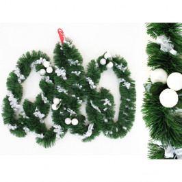 Dekoratívna vianočná girlanda s detailmi v bielej farbe Unimasa Tinsel, dĺžka 3 m