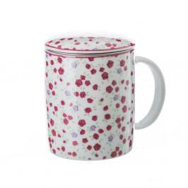Hrnček s čajovým sitkom Unimasa Roses, 310 ml