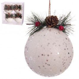 Sada 4 vianočných ozdôb Unimasa Holly