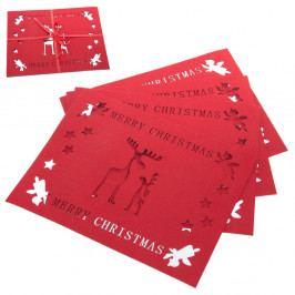 Sada 4 prestieranie s vianočným motívom Unimasa Reindeer