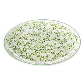 Zeleno-biely tanier Unimasa Meadow, Ø20,3 cm