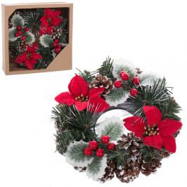 Vianočný dekoratívny veniec Unimasa Center