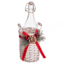 Fľaša v úložnom košíku Unimasa Christmas