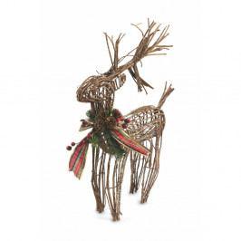 Vianočná dekoratívna soška Villa d'Este XMAS Renna PiccolaFiocco