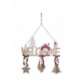 Závesná drevená vianočná dekorácia Villa d'Este Forest Welcome