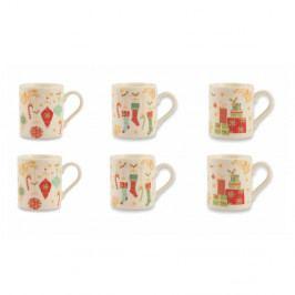 Sada 6 hrnčekov z kostného porcelánu Villa d'Este Sweet×mas Tazzine Caffe Albero