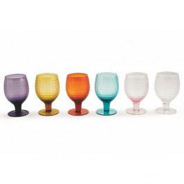 Sada 6 farebných pohárov na víno Villa d'Este Karma, 300 ml