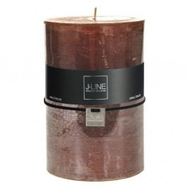 Hnedá sviečka J-Line Brassy, 120 hodin