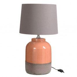 Keramická oranžová stolová lampa s tienidlom J-Line