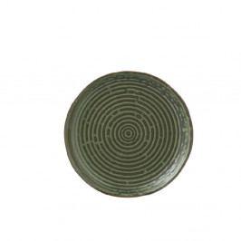 Zelený porcelánový tanier J-Line Circles, ⌀ 25,3 cm