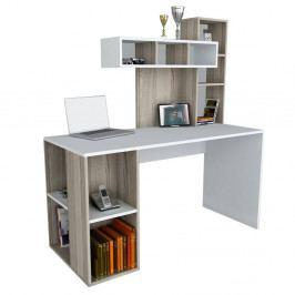 Biely pracovný stôl Coral