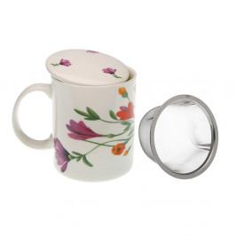 Hrnček z porcelánu so sitkom a pokrievkou VERSA Florian, 350 ml