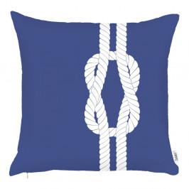 Modrá obliečka na vankúš Apolena Knot, 43 x 43 cm