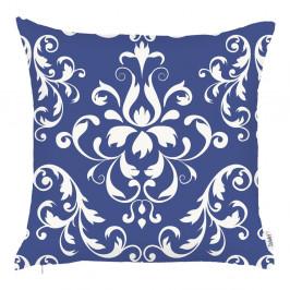 Modrá obliečka na vankúš Apolena Ornament, 43 x 43 cm