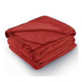Červená deka z mikrovlákna AmeliaHome Tyler, 220 x 240 cm