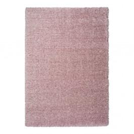 Ružový koberec Universal Floki Liso, 80 × 150 cm