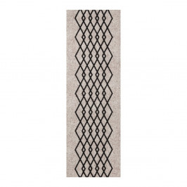 Krémovo-čierny behúň Zala Living Cook & Clean Elizabeth, 60×180cm