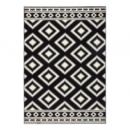 Čierny koberec Hanse Home Gloria Ethno, 80 x 200 cm