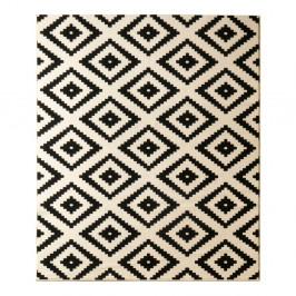 Čierny koberec Hanse Home Hamleti Diamond, 80×200cm