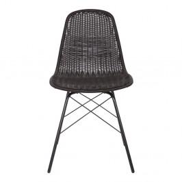 Súprava 2 čiernych stoličiek vhodných do interiéru aj exteriéru BePureHome Spun