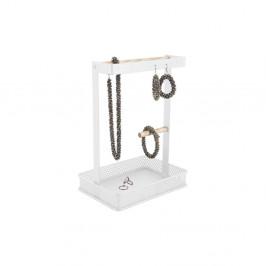 Biely stojan na šperky s drevenými detailmi PT LIVING Merge Square
