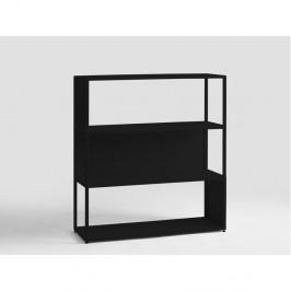 Čierna knižnica Custom Form Hyller Side, výška 110 cm