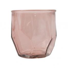 Ružový svietnik z recyklovaného skla Mauro Ferretti Ambra, ⌀ 9 cm