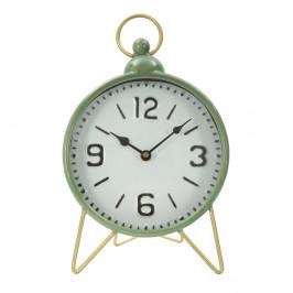 Zelené stolové hodiny s detailmi v zlatej farbe Mauro Ferretti Glam