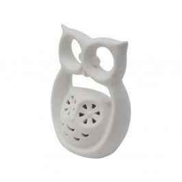 Biela porcelánová dekoratívna soška Mauro Ferretti Gufo Kid, výška 12 cm