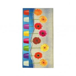 Vysokoodolný kuchynský behúň Webtapetti Flower Power, 60×190 cm