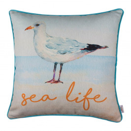 Obliečka na vankúš Apolena Seagull Sea Life, 43×43 cm