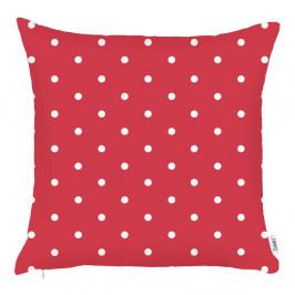 Červená obliečka na vankúš Apolena Dots, 43×43 cm
