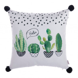 Obliečka na vankúš Apolena Hello Cactus, 43×43 cm