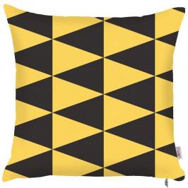Obliečka na vankúš Mike&Co.NEWYORK Yellow Triangles, 43 × 43 cm