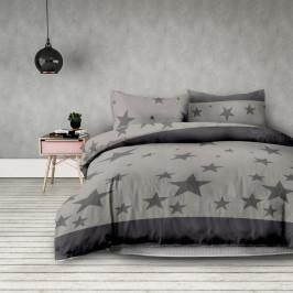 Sivé obliečky na dvojlôžko z mikrovlákna DecoKing Stardust, 200 × 220 cm
