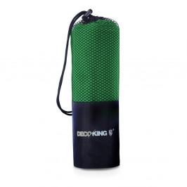 Zelená rýchloschnúca osuška DecoKing EKEA, 80 × 160 cm