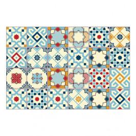 Sada 24 samolepiek na stenu Ambiance Azulejos Rano, 10×10cm