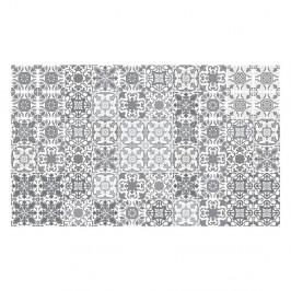Sada 60 nástenných samolepiek Ambiance Vintage Shae of Gray Duro, 10 × 10 cm