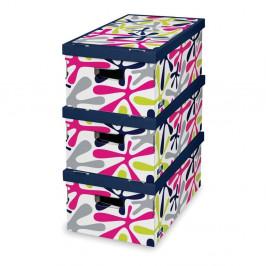Sada 3 úložných boxov Domopak Stain