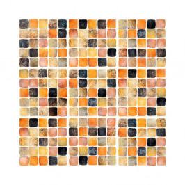 Sada 9 nástenných samolepiek Ambiance Wall Decal Tiles Mosaics Sanded Grade, 10×10 cm