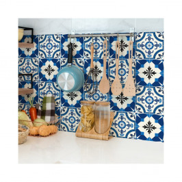 Sada 24 nástenných samolepiek Ambiance Wall Stickers Tiles Zina, 15×15 cm