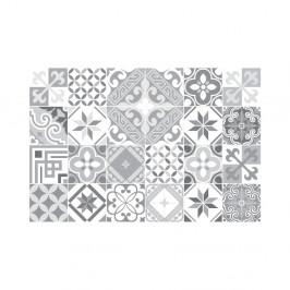 Sada 24 nástenných samolepiek Ambiance Wall Decal Cement Tiles Azulejos Micalina, 15×15 cm