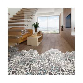 Sada 10 samolepiek na podlahu Ambiance Floor Stickers Hexagons Solenna, 40×90 cm